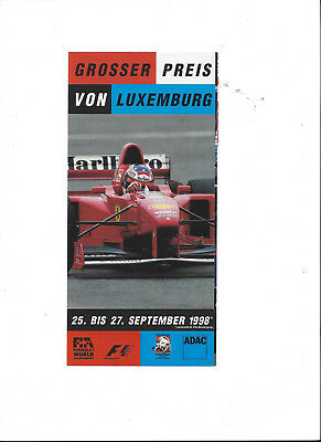 original Flyer Formel 1 Grand Prix von Luxemburg 1998 = Nürburgring