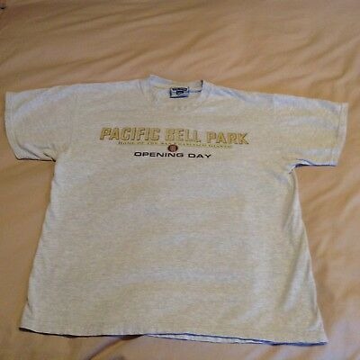 "SF Giants LA Dodgers Pac Bell Park Opening Day April 2000 ""I WAS THERE"" T-Shirt"