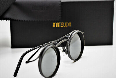 b96b95944 Matsuda 2903H MBK Sunglasses Matt Black Round Sunglasses 43 LIMITED EDITION!