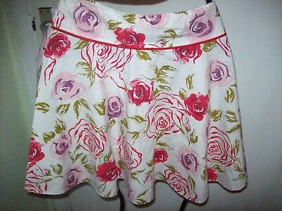 Girls 'Sophie' 1950'S Style Flower Flared Short Skirt & Halter Neck 9-10 Yrs Vgc