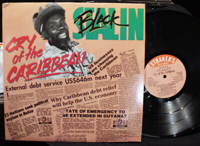 Black Stalin-Cry of the Caribbean-Straker's GS2358-Vintage 1992 Calypso LP-VG+!!