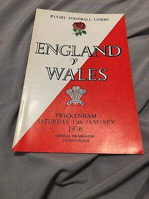 1976-England V Wales-Grand Slam-Five Nations-International Rugby Union Programme