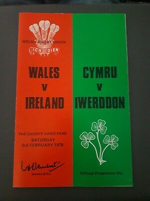 1979-Wales V Ireland-Five Nations-Triple Crown-International-Rugby Programme