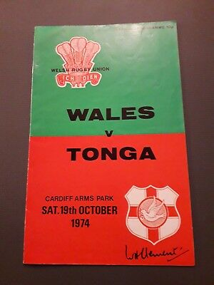 1974-Wales V Tonga-International Tour Match-Rugby Union Programme