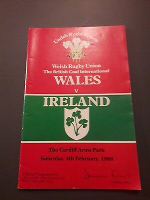 1989 Wales V Ireland-Five Nations International Rugby Union Programme
