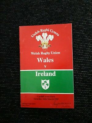 1985-Wales V Ireland-Five Nations Champions-International Rugby Union Programme