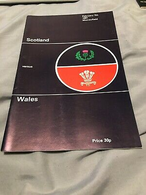 1981-Scotland V Wales-5 Nations-Welsh Centenary Year-Rugby Union Programme