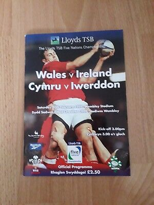 1999-Wales V Ireland-Five Nations-International Rugby Union Programme