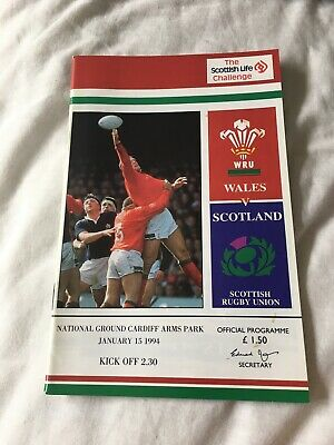 1994-Wales V Scotland-Five Nations Champions-International-Rugby Union Programme