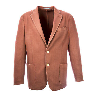 PAL ZILERI CONCEPT Brick Red Two Button Blazer X2YG232 Sz IT 52R $750 NWT