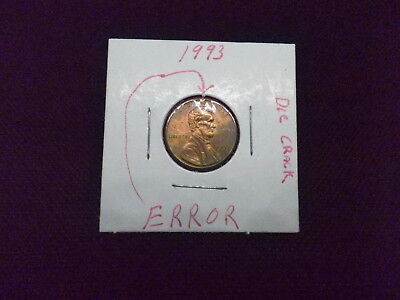 Us Mint 1993 - P Uncirculated Lincoln Penny (Error)
