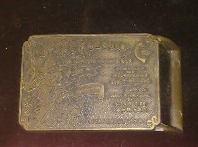 Vintage Sears Roebuck And Co. Brass Belt Buckle 1970'S & 80'S  #Bb103