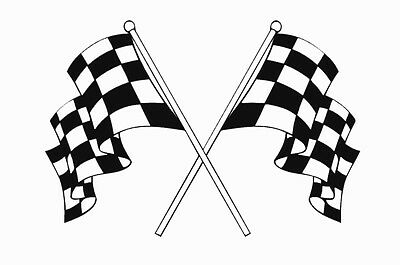 Chequered flags X 2 decal stickers motorsport racing scooter LI TV SX GP PK PX