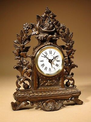 Rare Old Brown Colour Gild Cast iron Alarm mantel Clock Circa: 1890-1900
