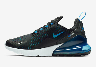 low priced f71df d5f9b Nike Air Max 270 Black White Blue Running Shoes Mens Trainers 6 7 8 9 10