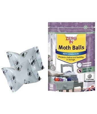 Moth Balls X 10 Zero In Protect Clothing Clothes Against Moths Damage Stainless