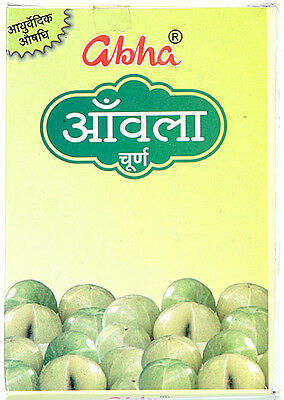 10X50 Gram Of New Abha Amla Powder For Healthy Hair With Lowest Shipping Charges