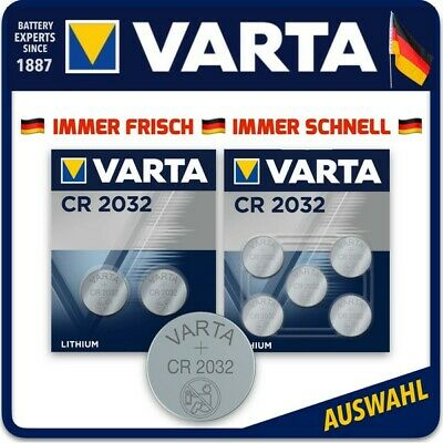 VARTA High-Tech Lithium Knopfzellen CR2032 Batterien Auswahl Blister l Bulk
