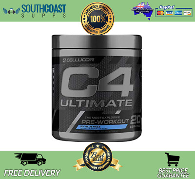 Cellucor C4 Ultimate Id Series Most Explosive Pre-Workout Iccy Blue Razz Flavour