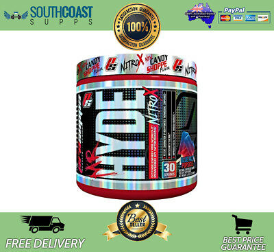 Pro Supps Mr Hyde Nitro X Blueraz Popsicle Flavour Pre-Workout Pump Energy Focus
