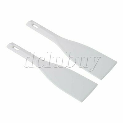 2 Pieces Printing Plastic Ink Scoop Silk Screen Printing Shovel White