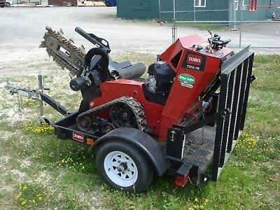 """Toro TRX-16 Trencher Track 6""""x30"""" Low Hours Excellent"""