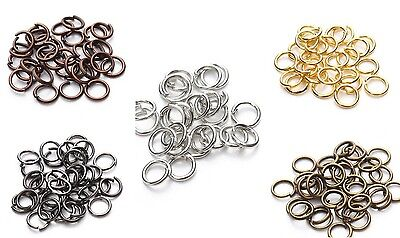 100 x Open Jump Rings Split Connectors Findings Jewelry Making Craft 6 Colours