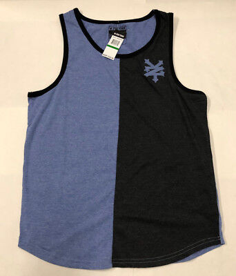 Nwt Mens Zoo York Anitque Blue Heather Stitched Logo Tank Top Muscle Shirt Large