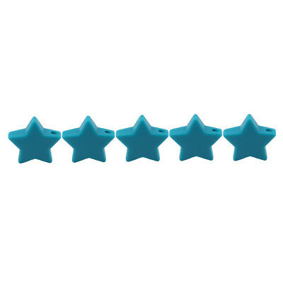 5Pcs Star-shaped Chewable Non Toxic Food Grade Teething Teether BPA Free Toy D