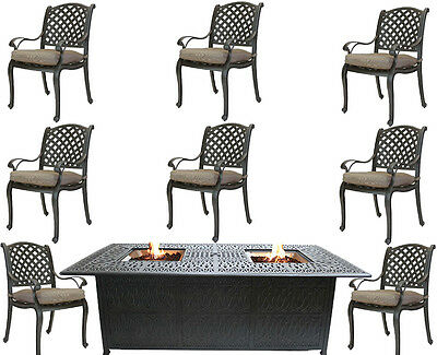 Strange Fire Pit Dining Table Cast Aluminum Propane Double Burner 9 Squirreltailoven Fun Painted Chair Ideas Images Squirreltailovenorg