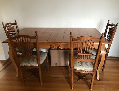 Ethan Allen Legacy French Country Farmhouse Dining Table 4