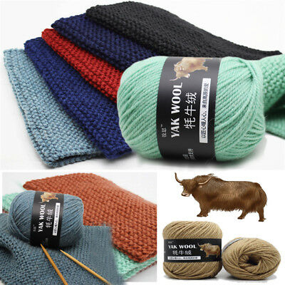 100g Skeins soft Knitting yak wool cashmere for sweater DIY Crochet thick Yarn