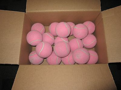 24 Used *PINK* Tennis Balls-Great for dogs, projects, gargage, walkers and more