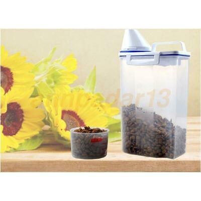 Small Tranparent Sealed Pet Dry Food Container Dog Food Bucket Roller with Spoon