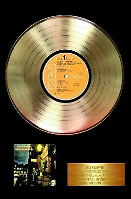 David Bowie- Rise & Fall Of Ziggy Stardust  - Novelty Gold Record Award Poster