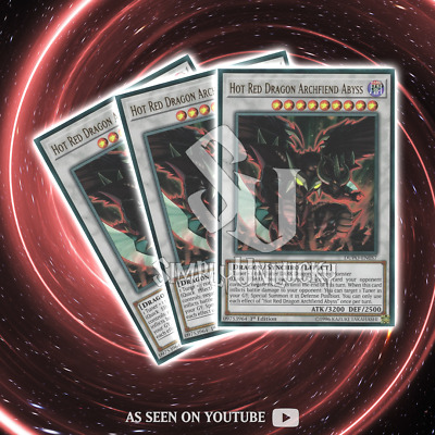 HOT RED DRAGON ARCHFIEND ABYSS x3 | Ultra Rare | DUPO-EN057 Duel Power YuGiOh