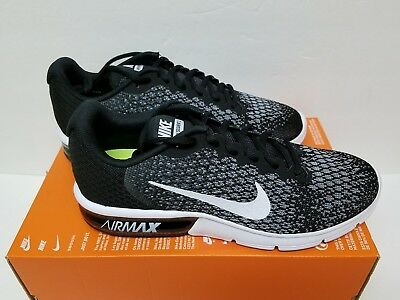 c6578141c35 Nike Air Max Sequent 2 Size 9 Mens 852461-005 Black White Knit Running Shoes