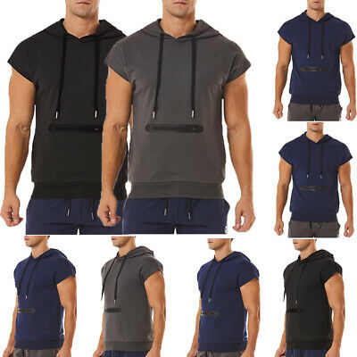 325813997 Gym Men Muscle Short Sleeve Tank Top Bodybuilding Sport Fitness Workout T- Shirts