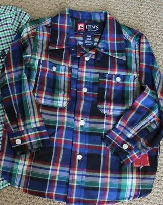 Chaps Ralph Lauren 18 M Boy's Button Shirt Long Sleeve NWT