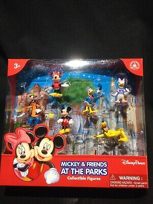 Disneyland Parks Mickey & Friends At The Parks Collectible Figures NIB Disney