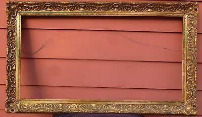 ARTS & CRAFTS Gold Gilt Large Ornate Picture Frame - Will custom fit Painting