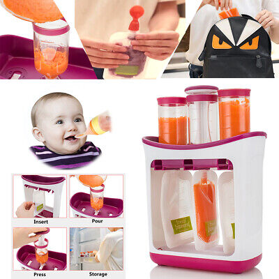 Infant Baby Food Feeding Station Maker Pouches Homemade Fresh Squeeze Storage !!