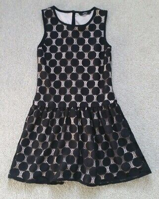 Girls Lovely Black Fully Lined smart Summer dress Age 7-8Yrs hardly ever worn
