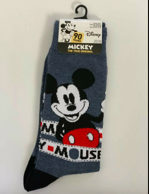 Disney MICKEY MOUSE Collectible 90th Anniversary Men's Crew Cut Socks Size 6-12
