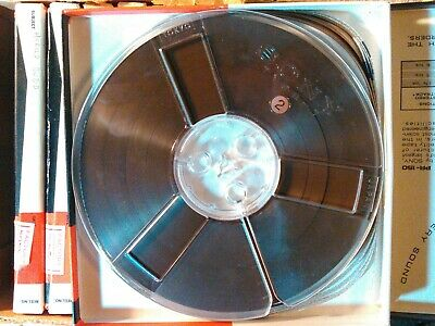 """Reel to reel 7"""" Sony PR-150 Professional Recording Tape LOT of 10+1 reel. Excell"""