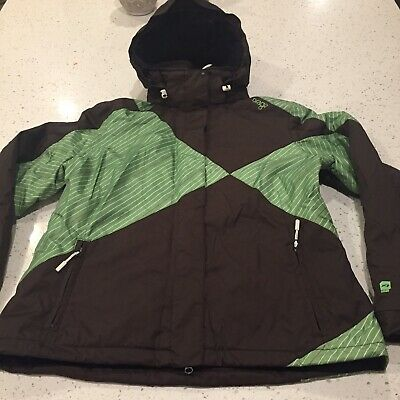 4c84cde40 ORAGE YOUTH SKI Jacket Sz XL 14 Orange Red Olive Green - $42.00 ...