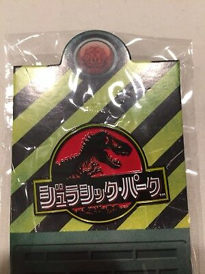 Mondo Jurassic Park Japanese Logo Lapel Pin Free Shipping Within USA