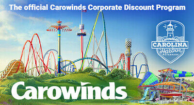 Carowinds Amusement Park any day ticket $33