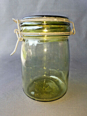 Antiguo Frasco de Cristal de Ideal Tarro Bric Vintage Old French Jar