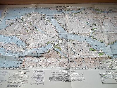 "A War Revision Map 1940 Of SOUND OF MULL -Sheet No.53 Popular Edition 35"" x 25"""